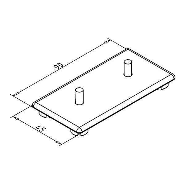 minitec 45x90 endcap diagram