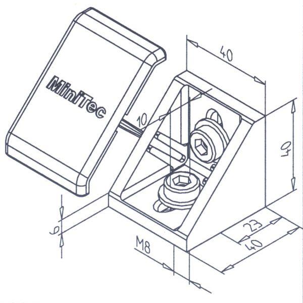 Mounting Angle 45 GD Diagram